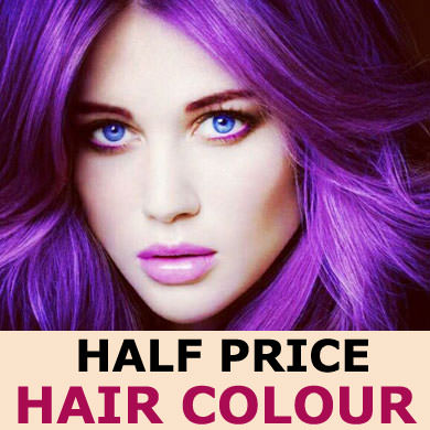 HALF PRICE HAIR COLOUR – AT BLISS SALONS