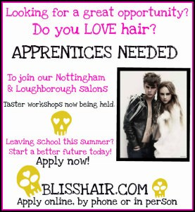 hairdresser apprenticeships, loughborough and nottingham hair salons