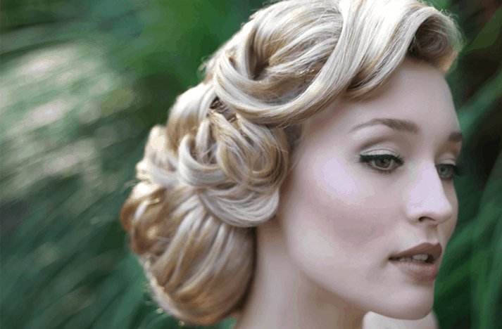 Wonderful Vintage Hairstyle Wedding Hair Updos 713 x 468 · 136 kB · png