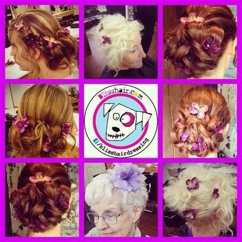 wedding hair at hairdressers in Nottingham and Loughborough, Bliss Hair