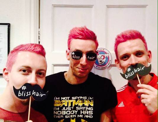pink haired men, loughborough salon