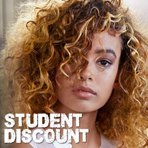 1st Visit – Student Discounts on Hairdressing