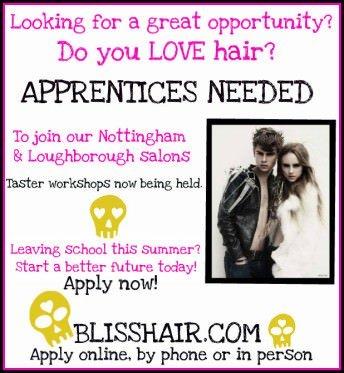 Hairdressing apprentice jobs, Nottingham and Loughborough