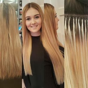 bonded hair extensions at bliss hairdressers in loughborough and nottingham