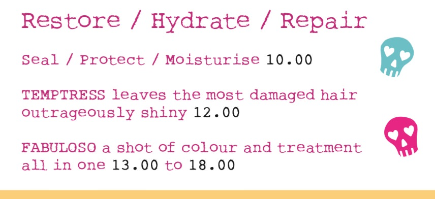 Treatment Prices at Bliss Hair Salons in Nottingham & Loughborough