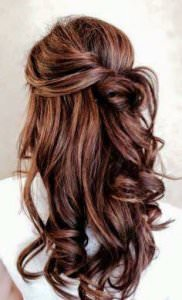 Half Upstyles for Weddings, Loughborough hair salon, Bliss Hair