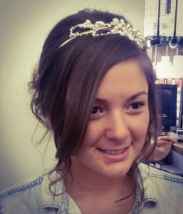 Wedding Hair with Tiara, Bliss Hair Salons, Nottingham, Loughborough