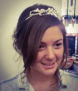 Wedding Hair with Tiara, Bliss Hair Salons, Nottingham, Loughborough