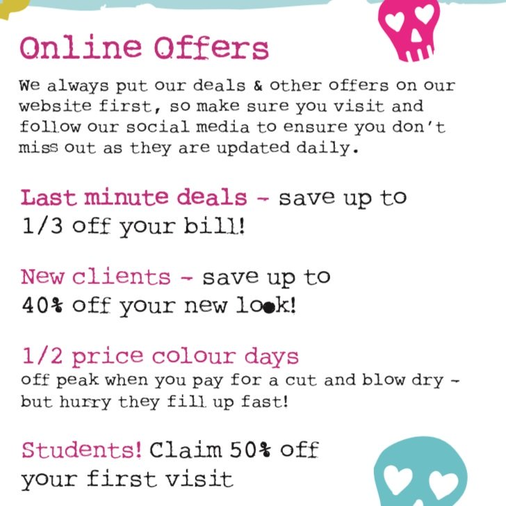 Online Offers & Discounts at Bliss Hair Salons in Nottingham & Loughborough