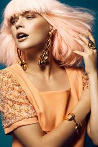gold-rose-hair-colour, Newcastle hairdressers & beauty salon