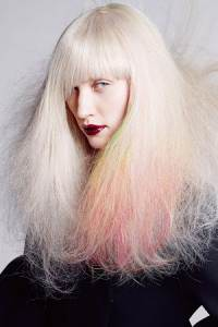platinum-with-pink-hints, House of Savannah hair & beauty salon & spa, Newcastle