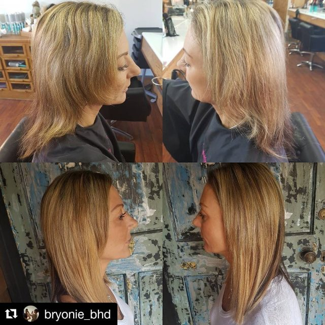 Before and after of partial extensions by blissbryonie  Ifhellip