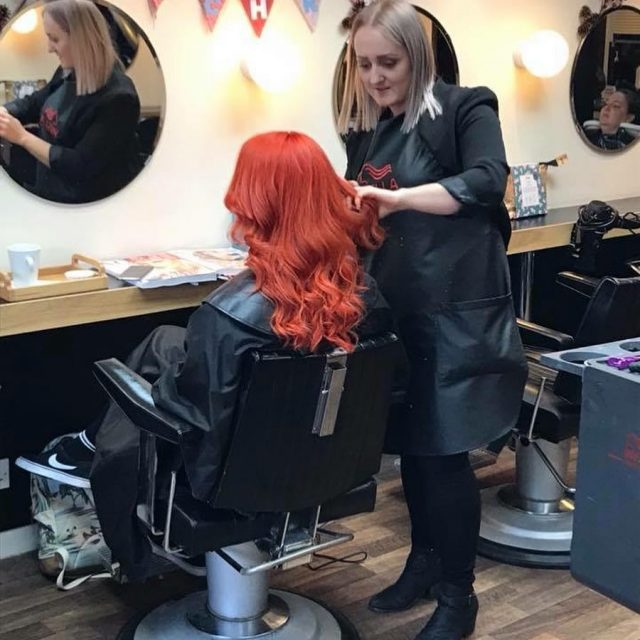 Sam in action this evening AMAZING colour blisshair blisssam photoofthedayhellip