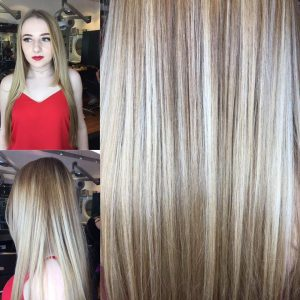 blonde hair colour, bliss hair salons, nottingham & loughborough