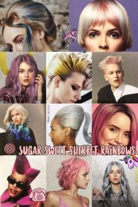 candy inspired hair colour trend, bliss hair salons, nottingham, loughborough
