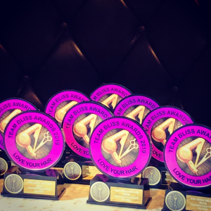 Awards for Employees at Bliss Hair Salons in Nottingham & Loughborough