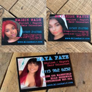 YOUNGSTAR Stylist at Bliss Hair Salons in Nottingham & Loughborough