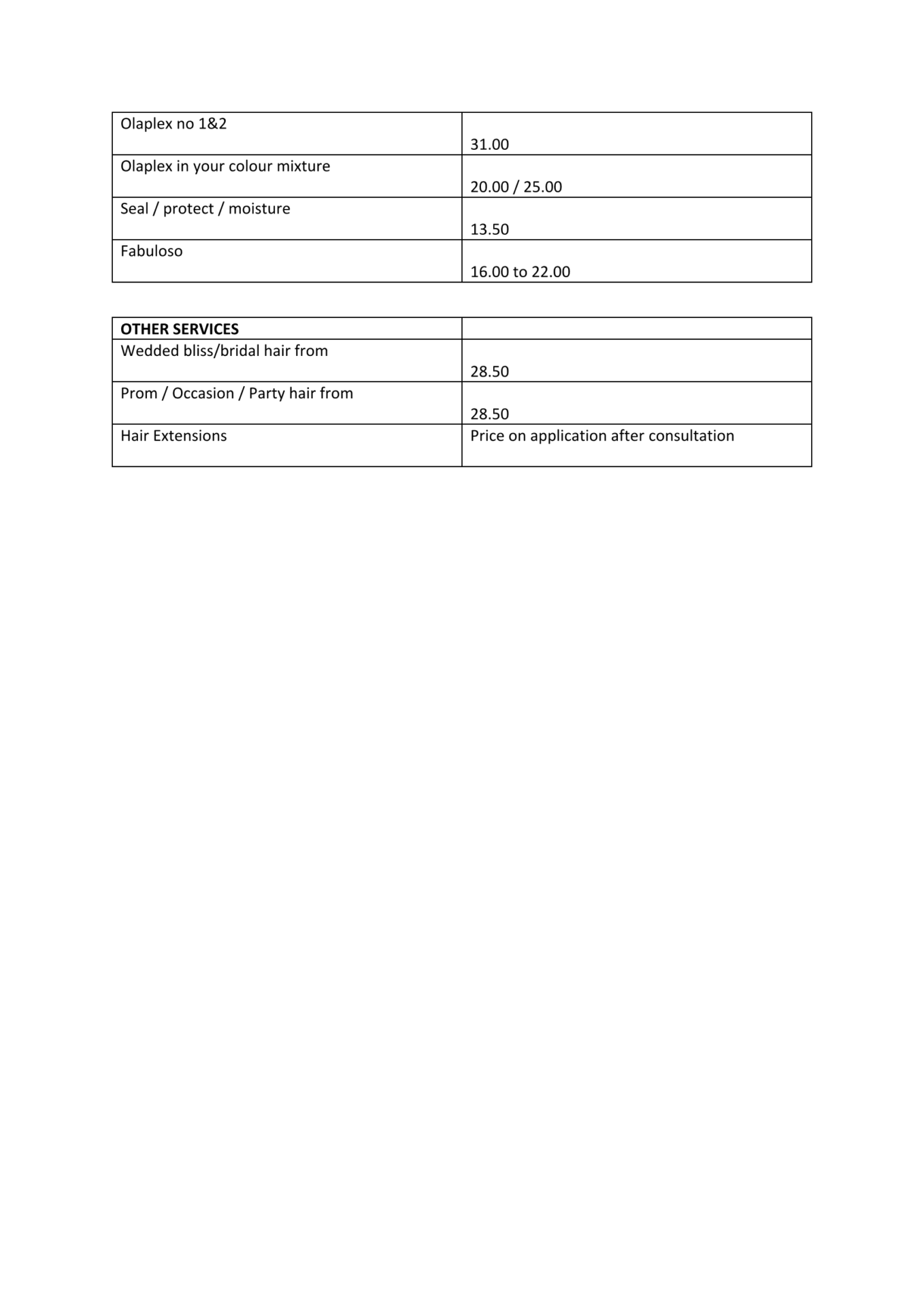 BLISS PRICE LIST JULY 2020 1 Page 2