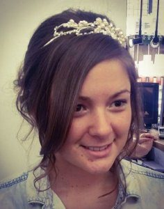 Wedding hair with tiara